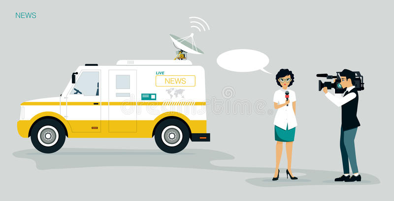 News report royalty free illustration