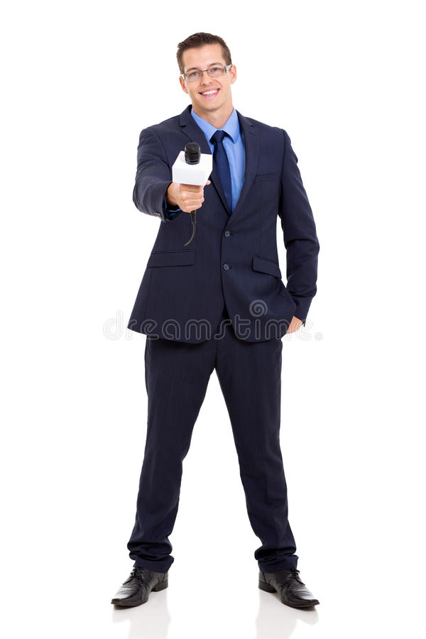 Download News reporter interviewing stock photo. Image of portrait - 34935070