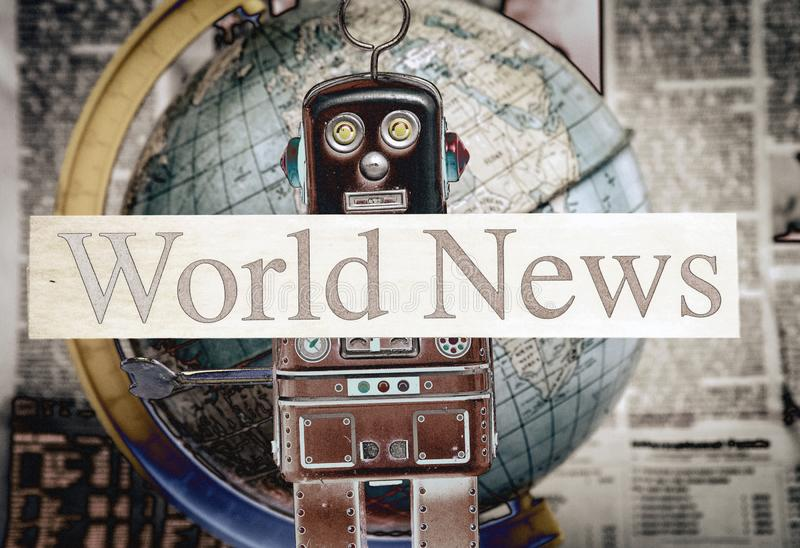 News robot wold news stock images