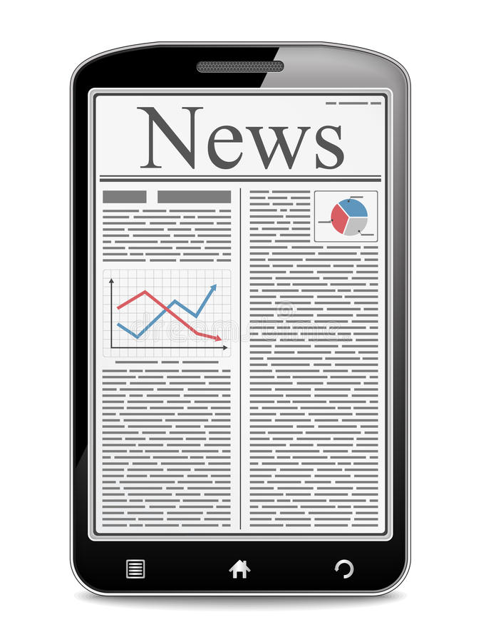 News in Mobile Phone vector illustration