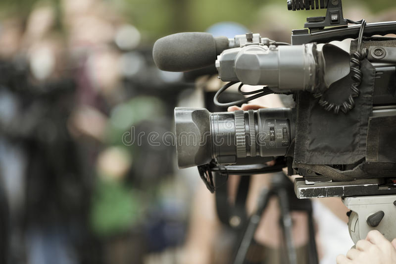 News shooting stock image