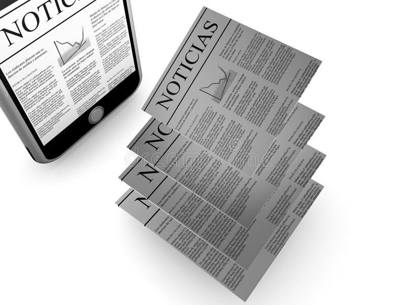 News in Spanish vector illustration