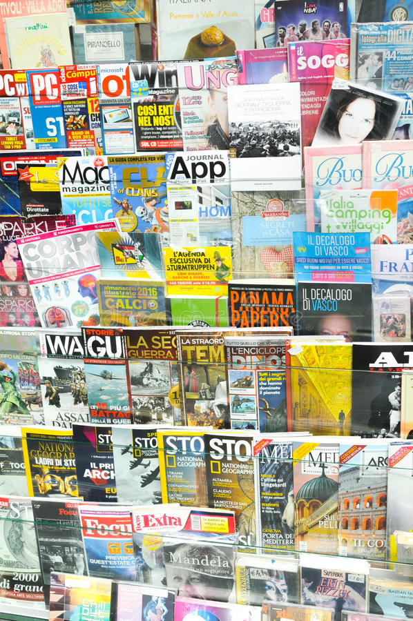 News stand stock images