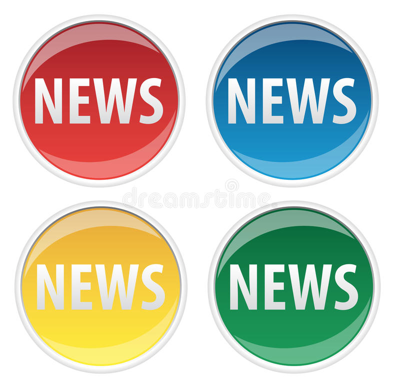 Download News Sticker stock illustration. Illustration of reports - 9607718