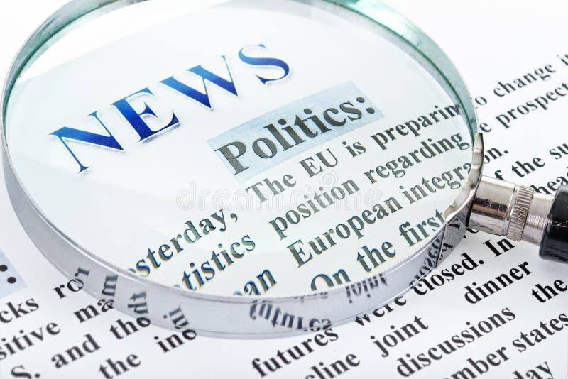 News Text Stock Image