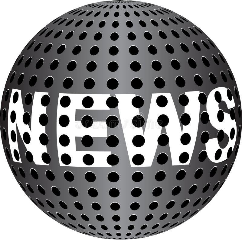 NEWS Text On Metallic Ball Stock Image