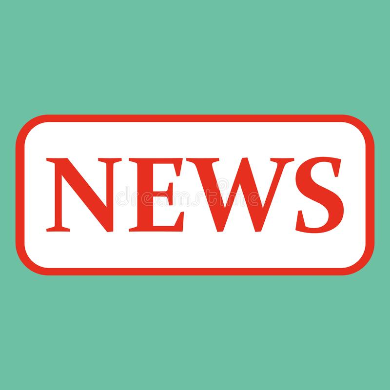 News text red badge banner with white on green background vector eps10. royalty free illustration