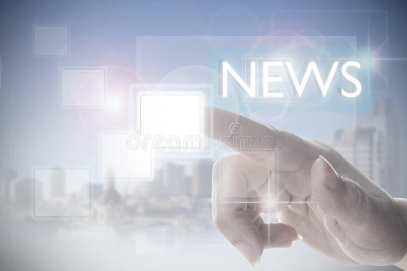 News touchscreen stock image