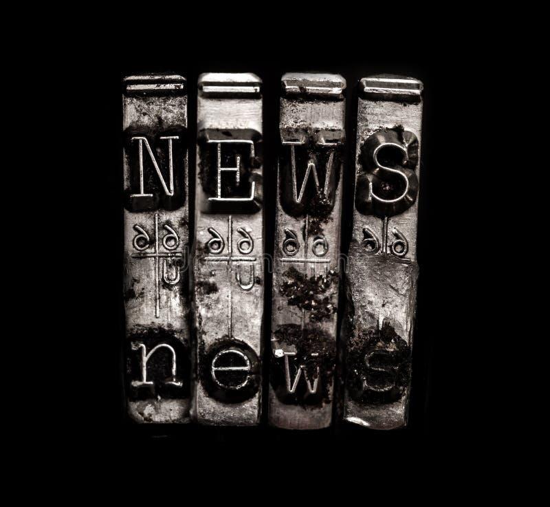 News typewriter keys