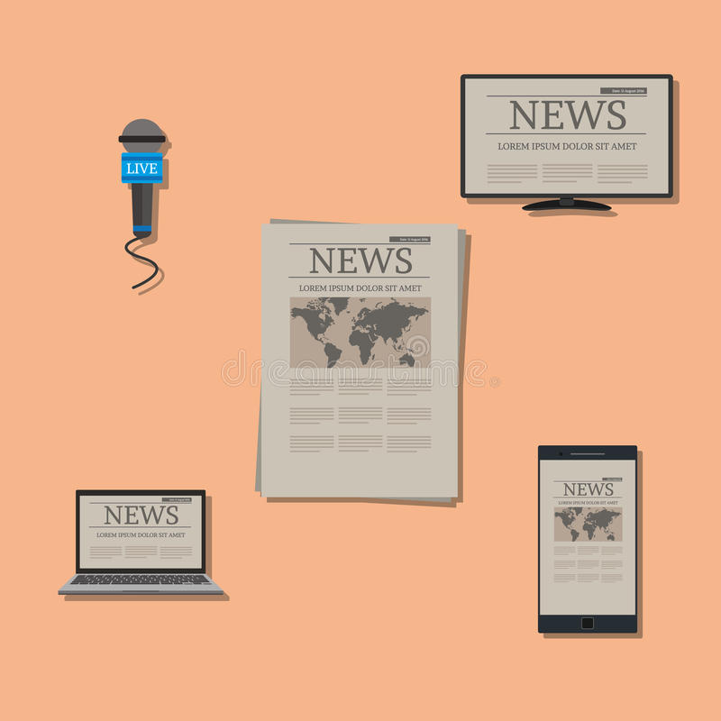 News on variable devices. Vector illustration concept design royalty free illustration