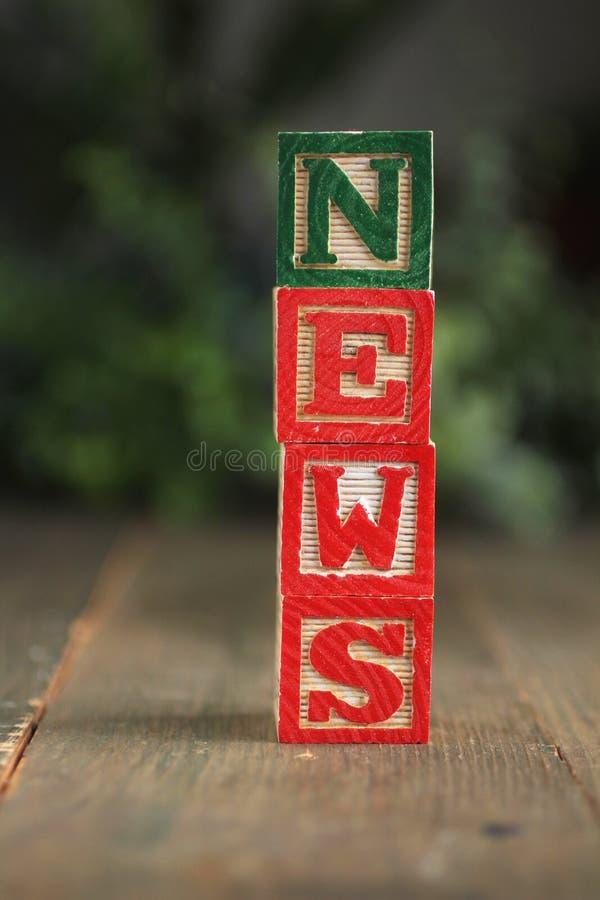 Download News wood blocks stock photo. Image of color, alphabet - 23452172