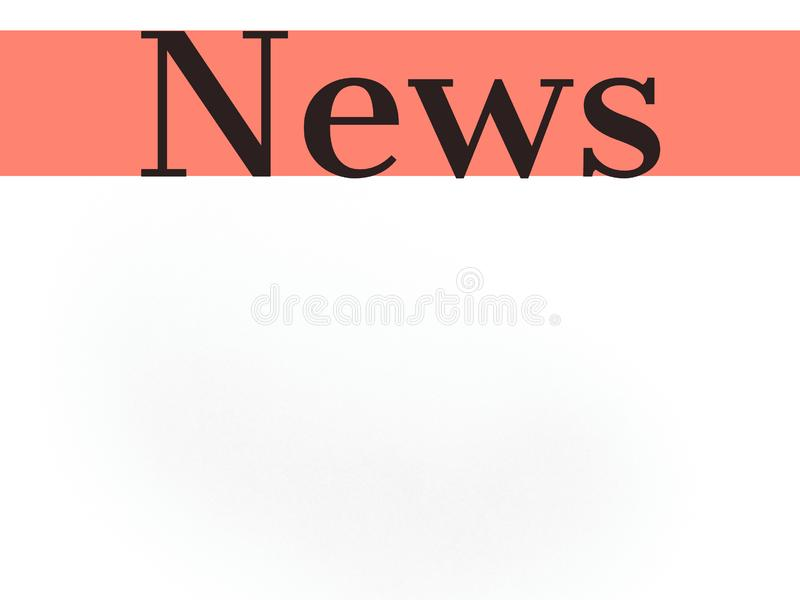 News word on white blank background and orange color line for use royalty free stock photo