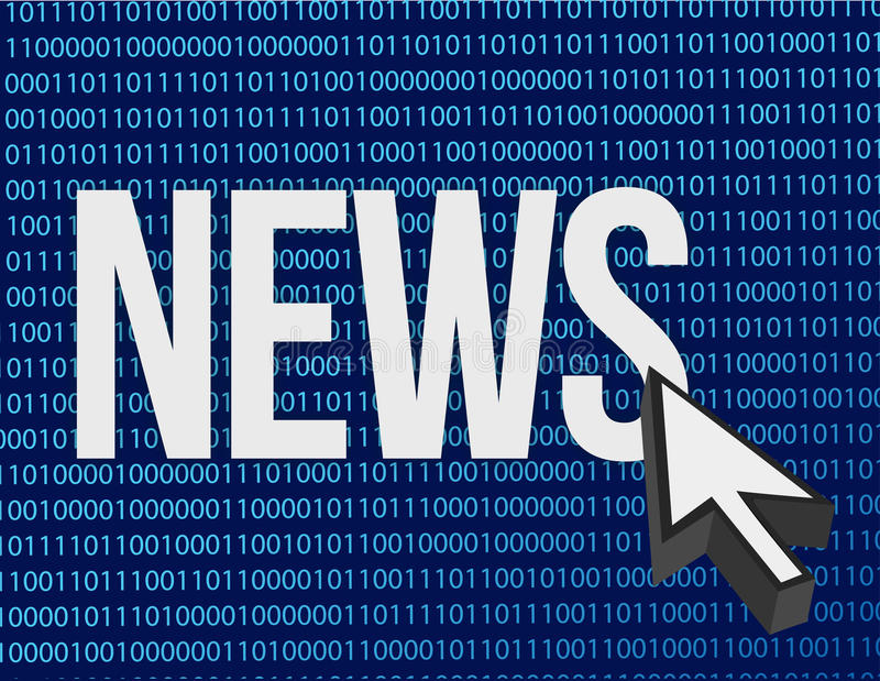 News written vector illustration