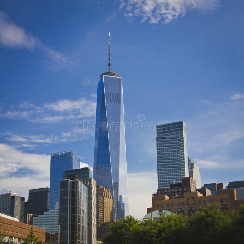 News York ett World Trade Center royaltyfri fotografi