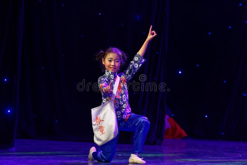 Newsboys- Beijing Dance Academy grading test outstanding children`s dance teaching achievement exhibition Jiangxi. Sponsored by the Beijing Dance Academy Grading stock image