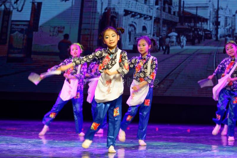 Newsboys- Beijing Dance Academy grading test outstanding children`s dance teaching achievement exhibition Jiangxi. Sponsored by the Beijing Dance Academy Grading royalty free stock photo