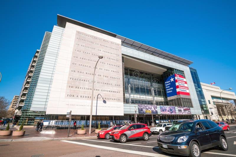 Newseum i Washington, DC, Förenta staterna arkivfoton