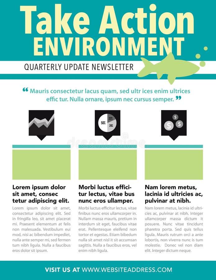 newsletter stock de ilustración
