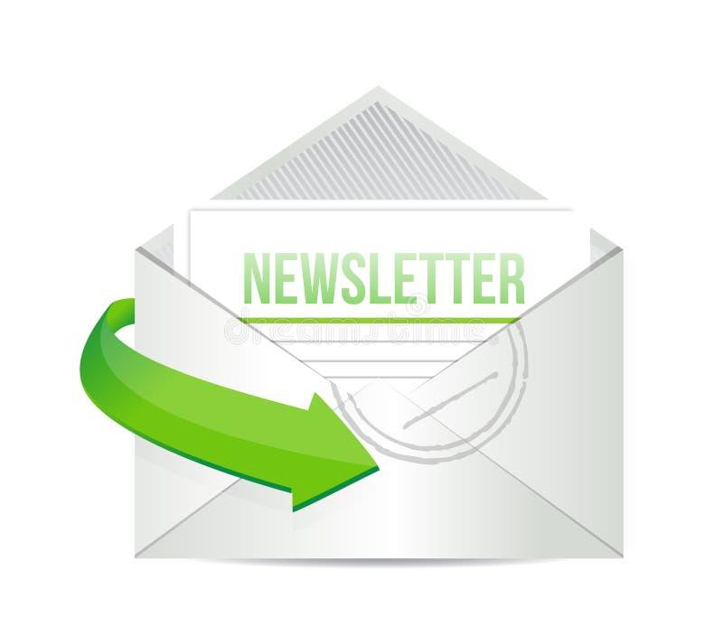 Download Newsletter Email Information Concept Illustration Stock Illustration - Illustration of push, message: 31418051