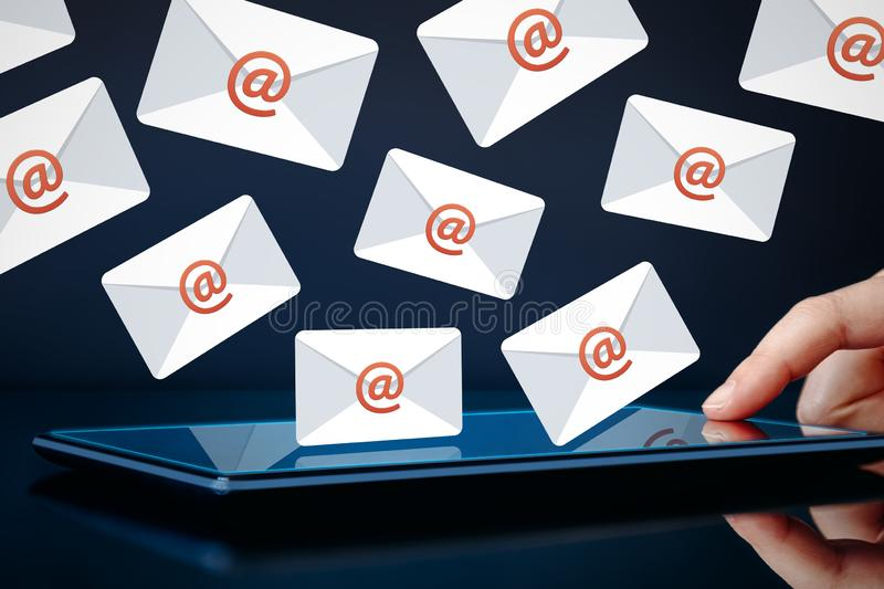 Newsletter and email marketing concept royalty free stock photos