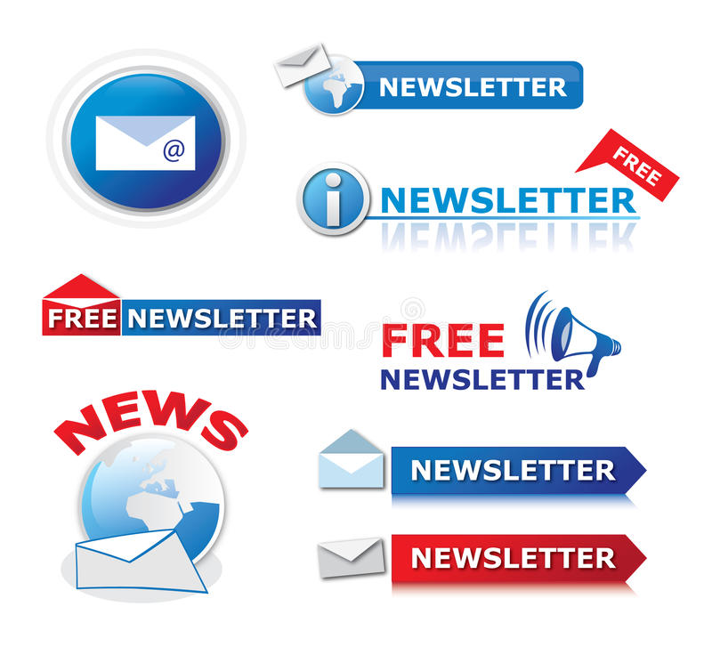 Free Newsletter Icons Stock Photo - 20131790