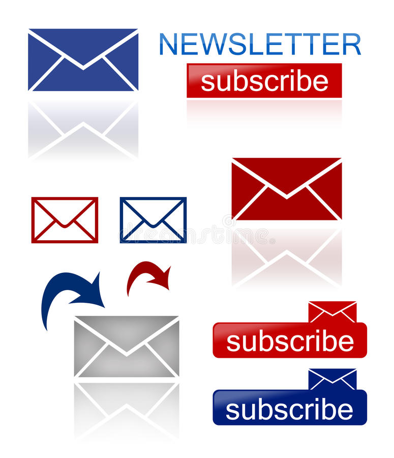 Newsletter Icons Stock Photos