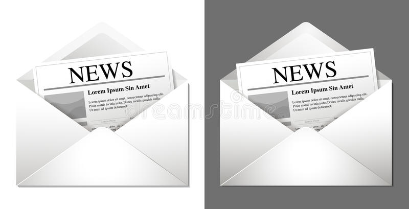 Download Newsletter Icons stock vector. Illustration of information - 27457181