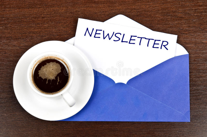 Download Newsletter message stock image. Image of note, cafe, morning - 22547739