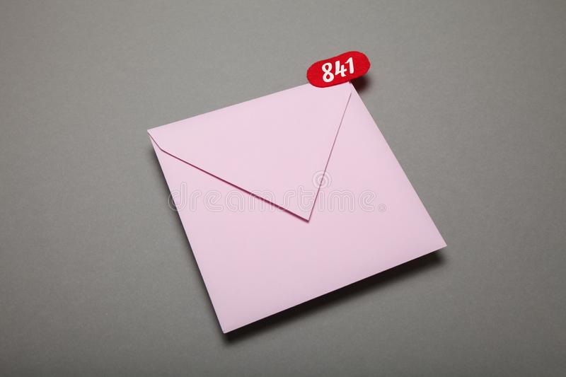 Newsletter notification, subscribe email. Information message, marketing envelope royalty free stock images