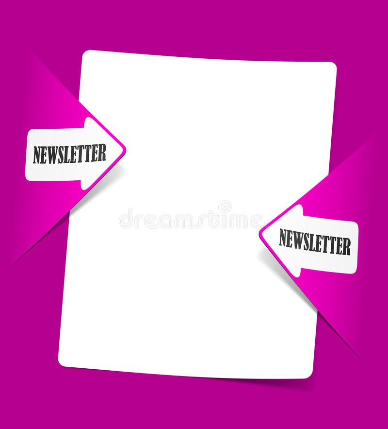 Newsletter, Realistic Design Elements Royalty Free Stock Images