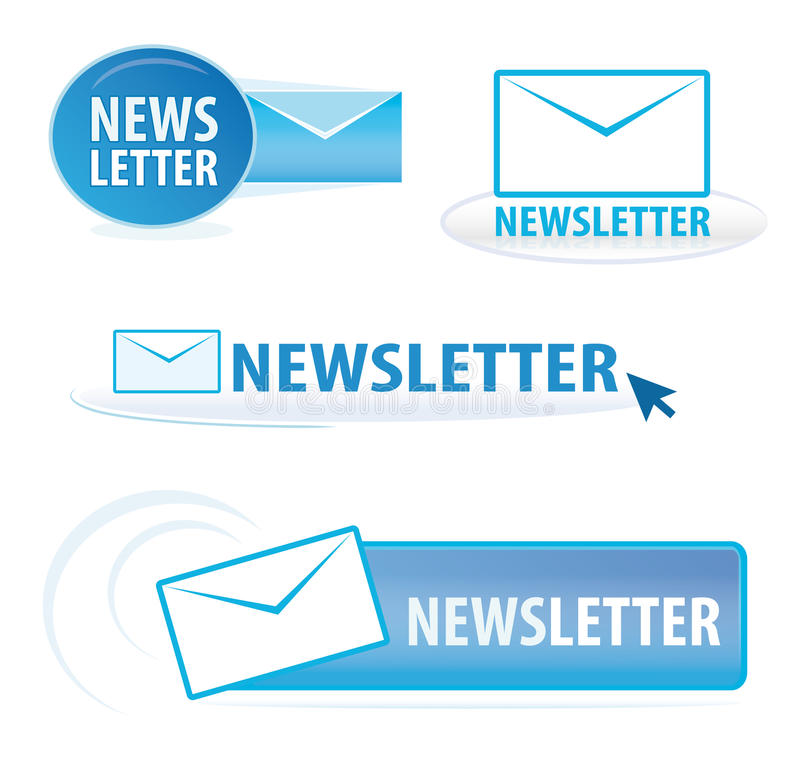Newsletter symbols vector illustration