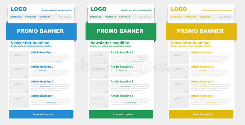 Download Newsletter Templates For Emailing. Stock Photo - Image: 36199280