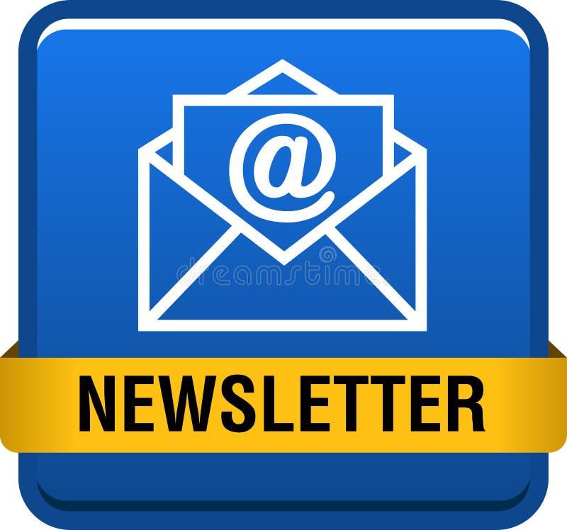 Newsletter web button stock illustration
