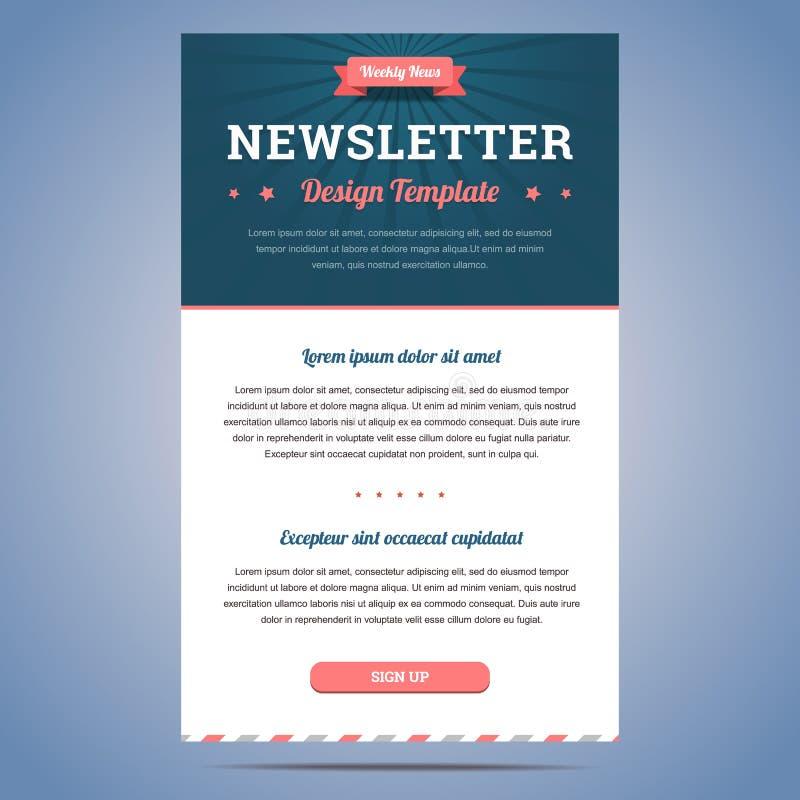 Newsletterdesignschablone lizenzfreie abbildung