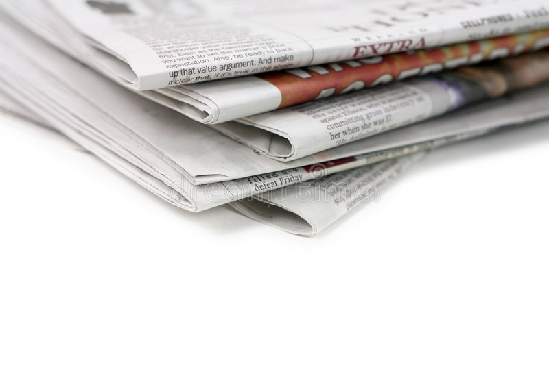 Newspape. R, concept of news media and business information
