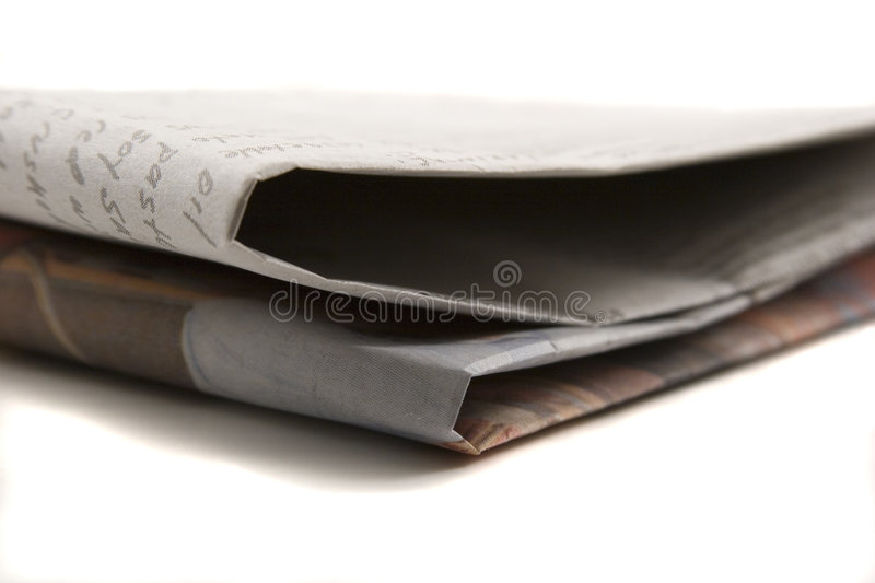 Download Newspaper stock image. Image of isolated, white, paper - 1795363