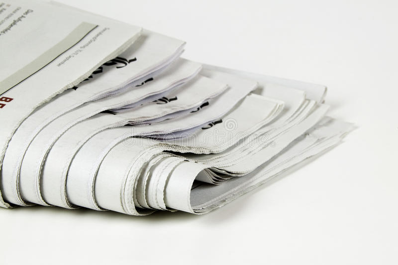 Newspaper. Pile of newspaper with copy space for your massage royalty free stock photo