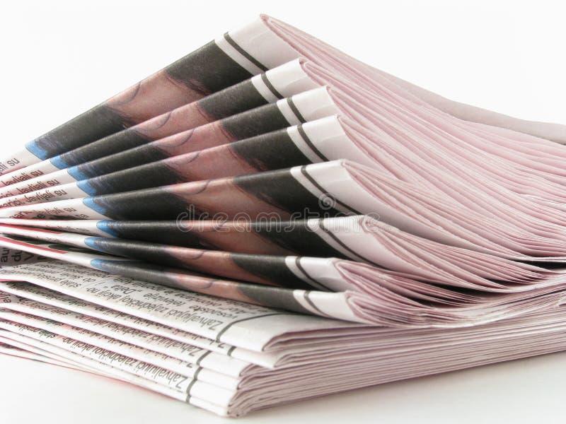 Newspaper stock image
