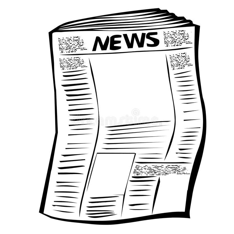 Newspaper royalty free illustration