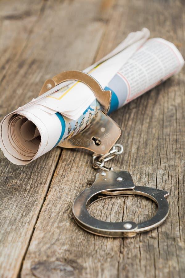 Newspaper addicted stock photography