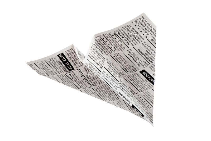 Download Newspaper Airplane stock photo. Image of newspaper, business - 25068874