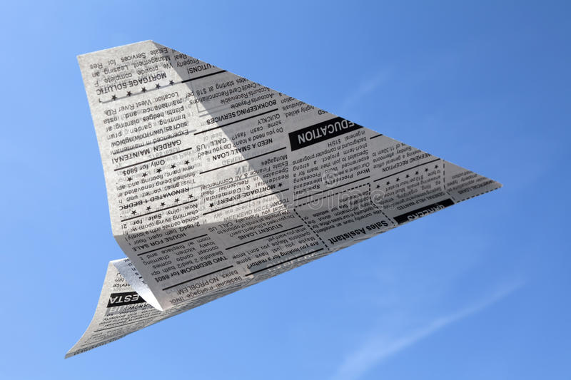Download Newspaper Airplane stock image. Image of communication - 36402793