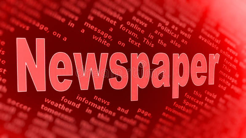 Newspaper Background Stock Photos