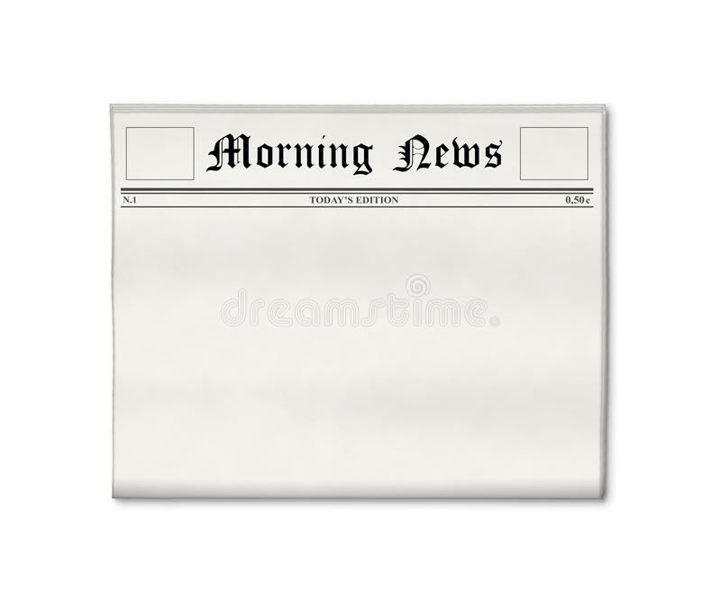 Newspaper blank template stock photos