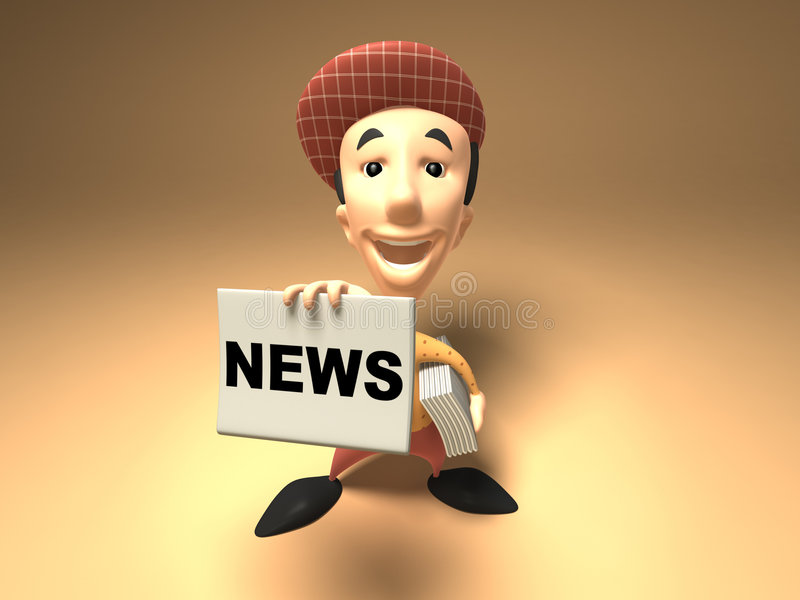 Download Newspaper boy stock illustration. Illustration of delivery - 3837008