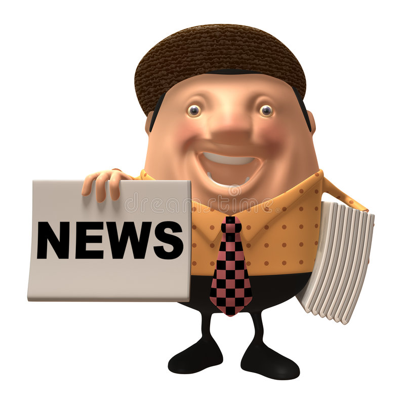 Download Newspaper boy stock illustration. Image of front, local - 4964445