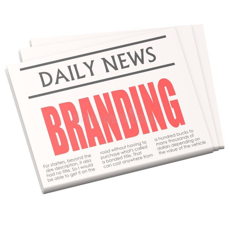 Download Newspaper branding stock illustration. Illustration of online - 39509783
