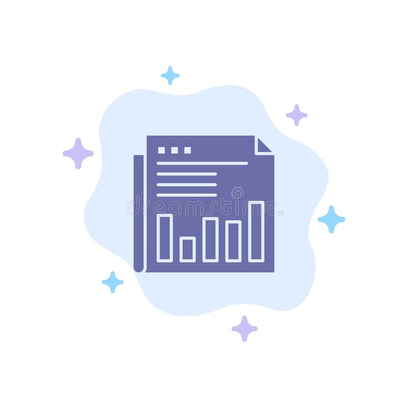 Newspaper, Business, Financial, Market, News, Paper, Times Blue Icon on Abstract Cloud Background stock illustration