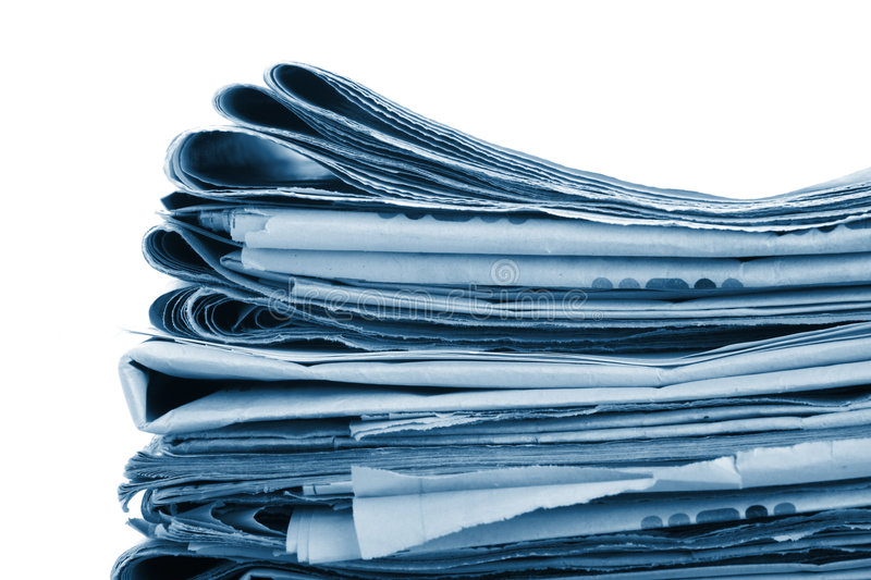 The newspaper business of news. The newspaper business and finance news stock images