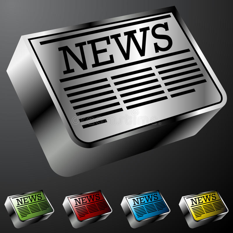 Newspaper Buttons. An image of newspaper buttons stock illustration